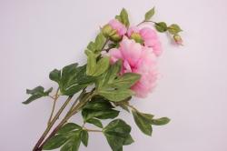 искусственное растение - ветка пиона 110 см розовый sun117
