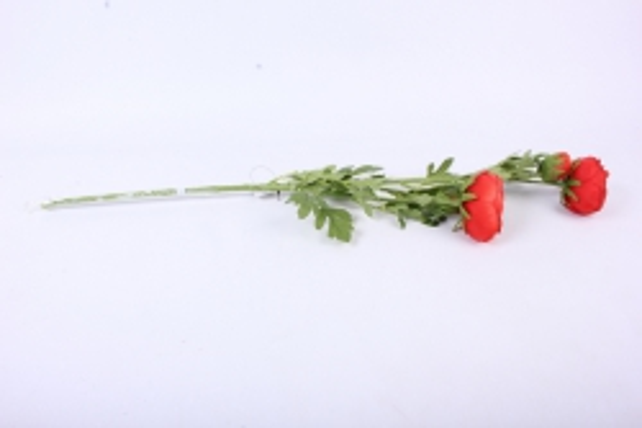 искусственное растение - ветка ранункулюс алый sun311 h=73cm