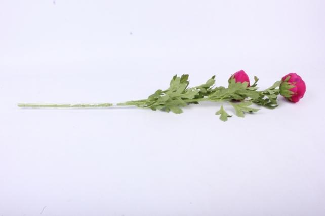 искусственное растение - ветка ранункулюс малиновый sun311 h=73cm
