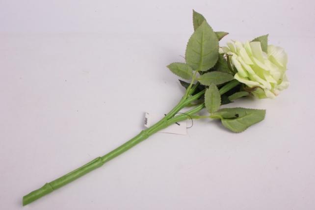 искусственное растение - ветка розы 35 см салатовая sun524