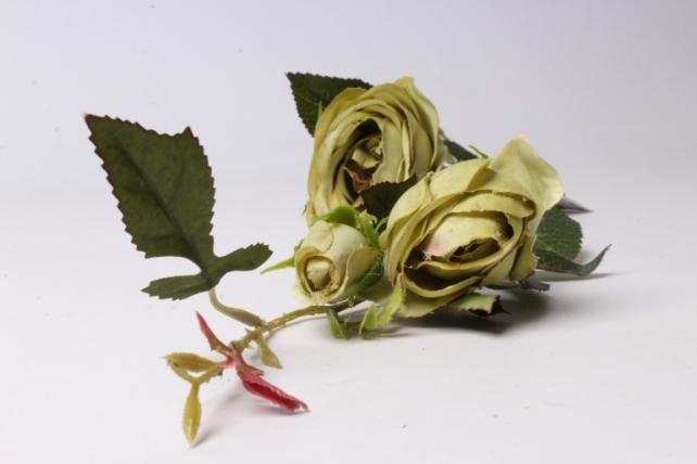 Искусственное растение - Ветка Розы 65см Салатовая SUN382