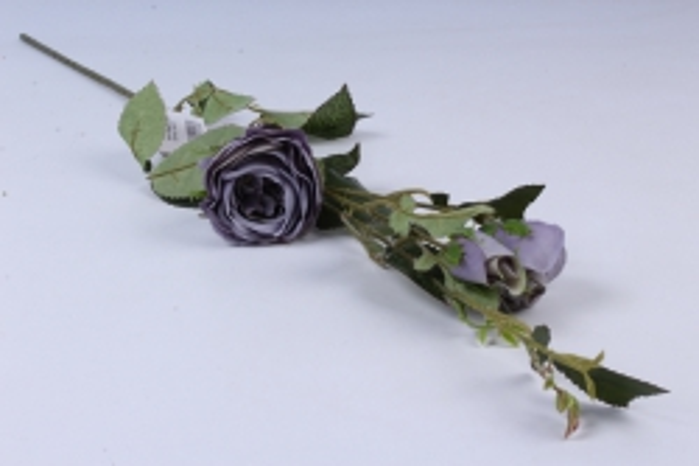 искусственное растение - ветка розы 65см серая sun382