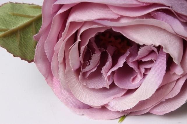 искусственное растение - ветка розы 65см сиреневая sun382