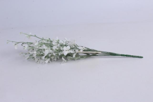 искусственное растение- ветка с белыми цветочками 40см   c-2636m  1567