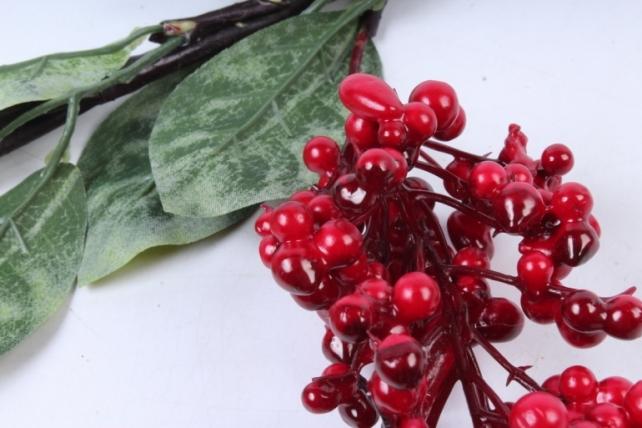 Искусственное растение -  Ветка ягод Годжи красная В9730