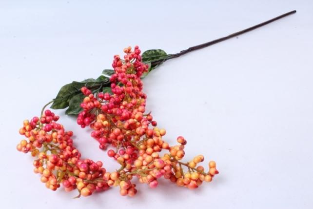 Искусственное растение -  Ветка ягод Годжи красно-жёлтые  В9730