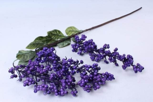 Искусственное растение -  Ветка ягод Годжи сиреневая  В9730