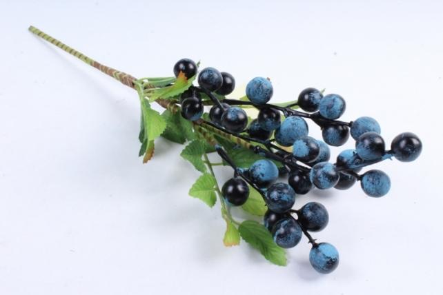 Искусственное растение -  Ветка ягод голубики  В10039