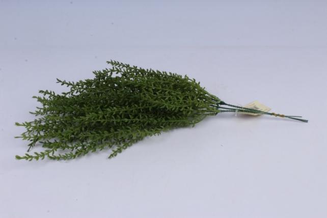 искусственное растение- ветка зеленая 45см  (3шт в уп)  gab185  8092