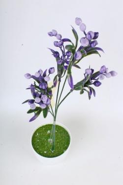 Искусственное растение -  Веточка боярышника (5 шт в уп) фиолетовая   В10404