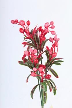 Искусственное растение -  Веточка боярышника (5 шт в уп) красная   В10404