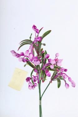 Искусственное растение -  Веточка боярышника (5 шт в уп) сиреневая  В10404