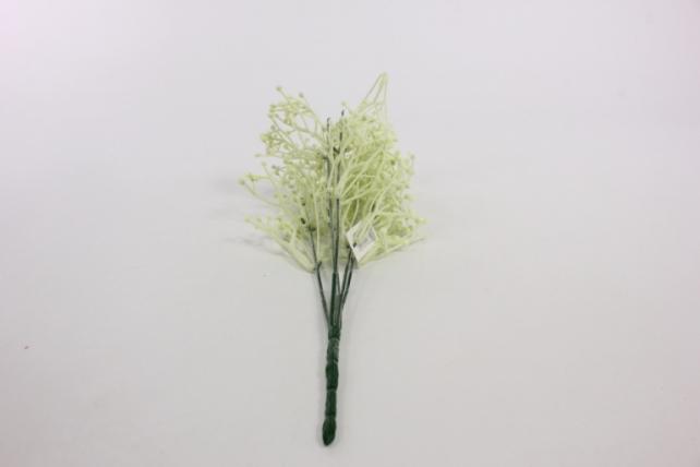 искусственное растение - веточка декоративная белая 2109