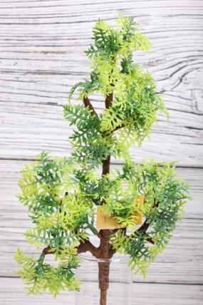 Искусственное растение -  Веточка хвойная 31 см салатовая  21KW091