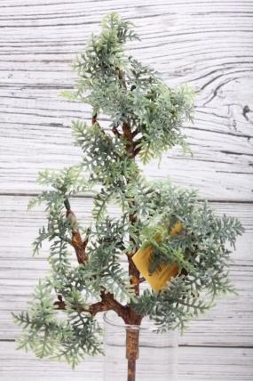 Искусственное растение -  Веточка хвойная 31 см зелёная  21KW091