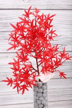 Искусственное растение -  Веточка клёна карликового38 см*20 см красная  21KW075