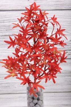 Искусственное растение -  Веточка клёна японского с красными листьями 32 см 21KW212