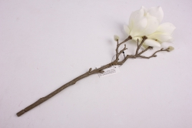 искусственное растение - веточка магнолии 35 см салатовая sun488