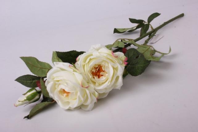 Искусственное растение - Веточка Розы  Белые SUN317