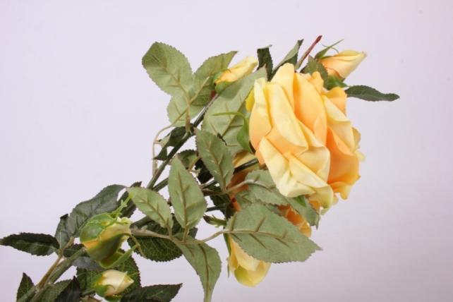 искусственное растение - веточка розы  желтые sun317
