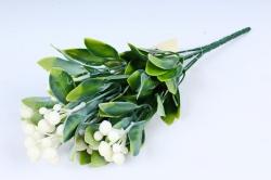 Искусственное растение- Веточка с белыми шариками  GAB183А