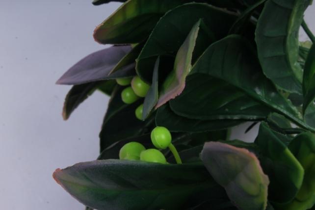 искусственное растение- веточка с лиловыми ягодами 25см (6шт в уп) ava206-3   2792
