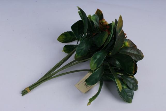 искусственное растение- веточка с оранжевыми ягодами 25см (6шт в уп) ava206-2   2785