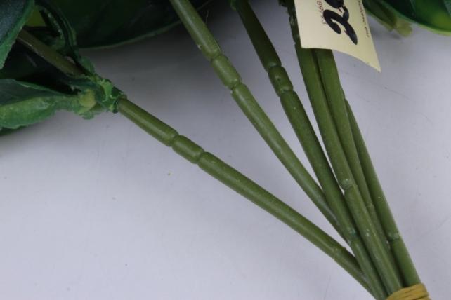 искусственное растение- веточка с сиреневыми ягодами 25см (6шт в уп) ava206-4   2808