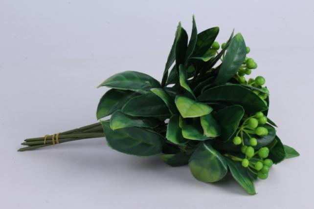 Искусственное растение- Веточка с зелеными ягодами 25см (6шт в уп) AVA206-5   2815