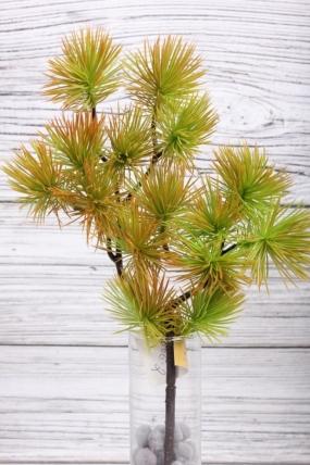 Искусственное растение -  Веточка сосны горной терракотовая  38 см* 20 см  21KW081