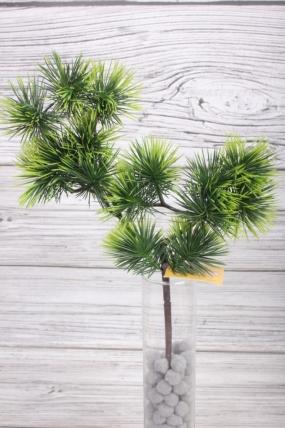 Искусственное растение -  Веточка сосны горной зелёно-салатовая  38 см* 20 см  21KW081
