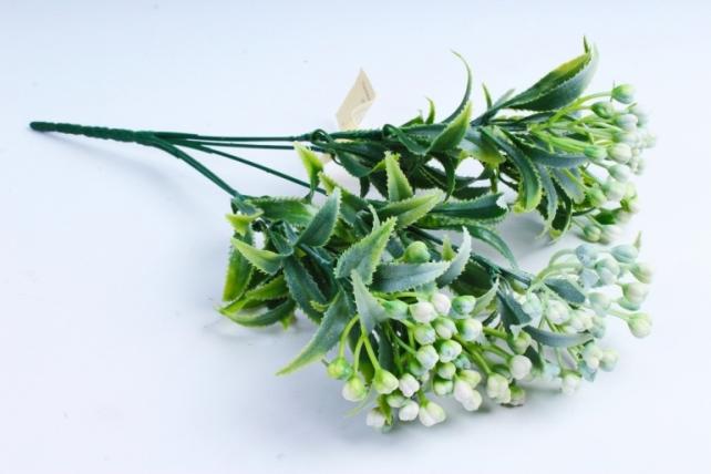 Искусственное растение -  Веточка зелёная с белыми шариками  AVA225C