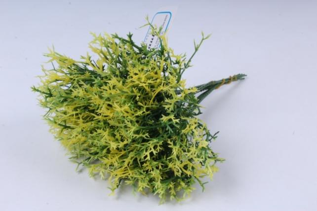 искусственное растение - веточки травы зелено-желтые 20см  (6шт в уп)  gap16  6415