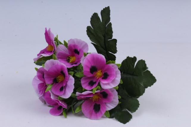 искусственное растение - виола фуксия h=27cm
