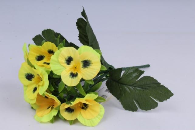 Искусственное растение - Виола жёлтая h=27cm