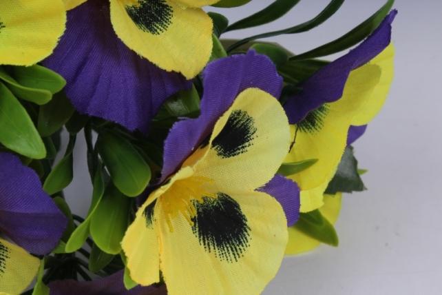 искусственное растение - виола желто-фиолетовая h=27cm