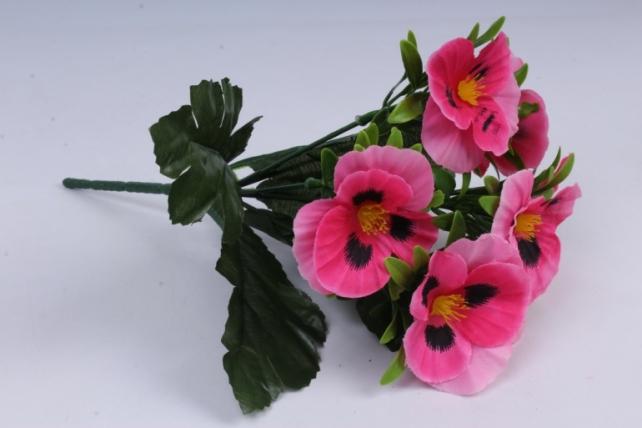 Искусственное растение - Виола розовая h=27cm