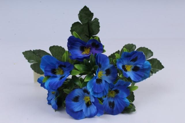 искусственное растение - виола синяя h=27cm