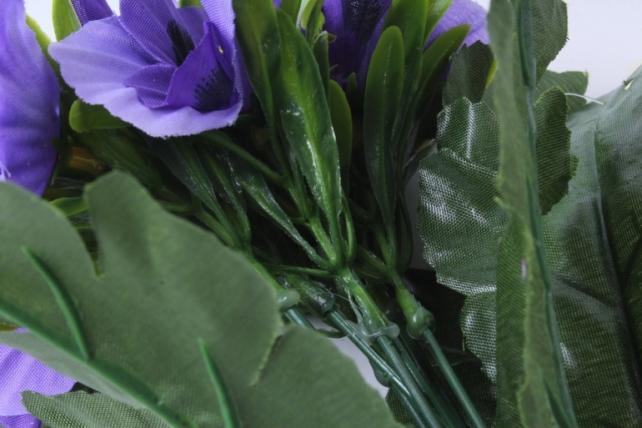 искусственное растение - виола сиреневая h=27cm