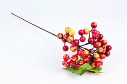 Искусственное растение -  Вишня стапная красно/жёлтая В10556