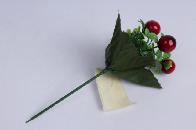 искусственное растение - ягодки бордо 20 см