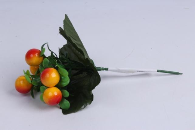 искусственное растение - ягодки жёлтые 20 см