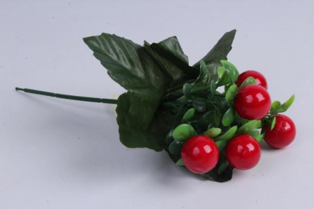 Искусственное растение - Ягодки красные 20 см