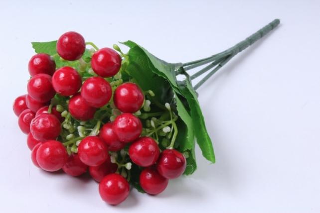Искусственное растение - Ягодки красные 30 см