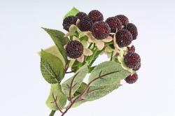 Искусственное растение -  Земляника лесная бордо   В10559