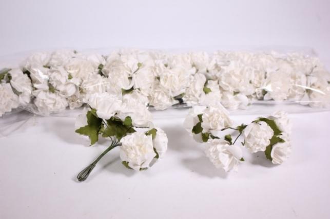 Искусственные цветы бумажные 2,5см Белые (72шт в уп) CF10-L382