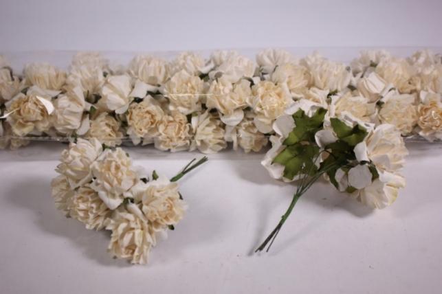 Искусственные цветы бумажные 2,5см Кремовые (72шт в уп) CF10-L382
