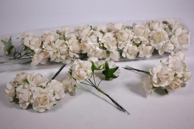 Искусственные цветы бумажные 2,5см Кремовые (72шт в уп) CF12-L711