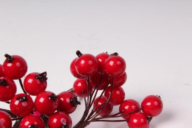 искусственные фрукты - 5656  яблоки красные 1см (12 пучков по 12 шт)  sm7278