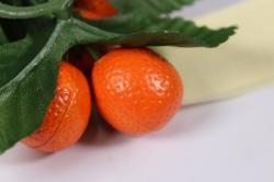 искусственные фрукты - апельсин на кольце